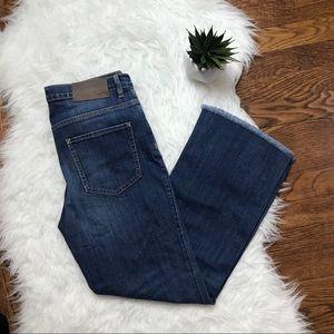 H&M Fringe Wide Ankle Cut Jeans